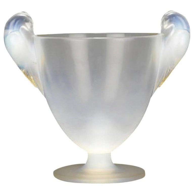 René Lalique Two Handled Vase For Sale