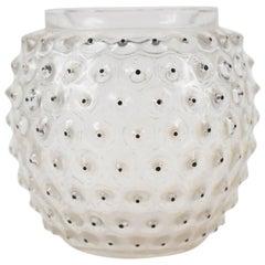 """René Lalique Vase """"Cactus"""" Black Enameled"""