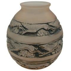 "René Lalique Vase ""Sudan"", Antelopes"