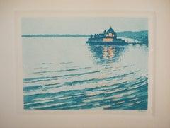 Dream of a Small Venice - Original etching