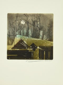 A Ton Tour - Original Etching by Renée Lubarow - 1978