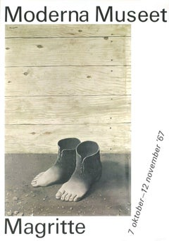 1967 After Rene Magritte 'Moderna Museet' Surrealism Gray Denmark Lithograph