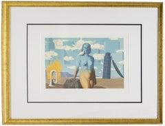 1968 Rene Magritte 'Le Domaine Enchante (VI)' Surrealism Multicolor,Blue France
