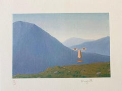 Every Day- original hand signed Magritte lithograph, surrealistic landscape