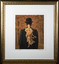 """""""Le Bouquet tout fait (The Ready-made Bouquet),"""" Lithograph after Rene Magritte"""