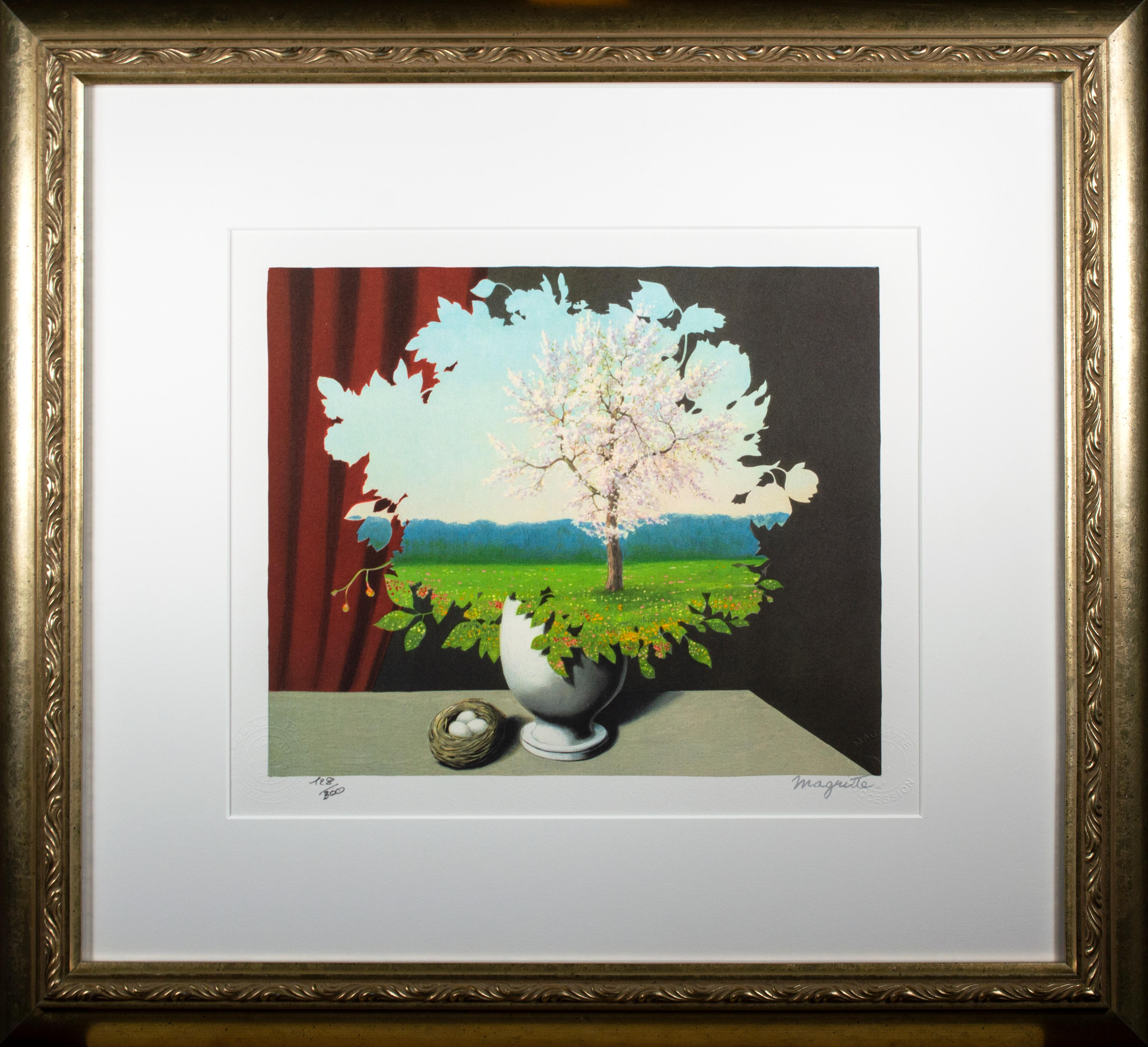 """""""Le Plagiat (Plagiarism),"""" Lithograph after the 1940 Painting by Rene Magritte"""