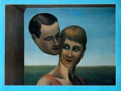 """René Magritte - """"Between Ethereal And Fleshly Love"""" - unique lithograph"""