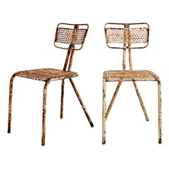 Rene Malaval Chairs, Set of 2