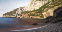 Cala Granadella, Rocky Cliffs Diving into the Ocean, Detailed Surreal Landscape