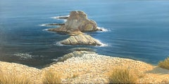 Las Vacaciones de Jose, Surreal Landscape of Rocky Islands off a Sea Coast