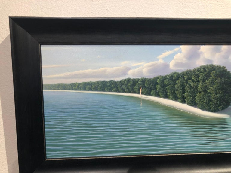 My Isla - Highly Detailed Surreal Island Landscape with Blue Turquoise Water For Sale 3
