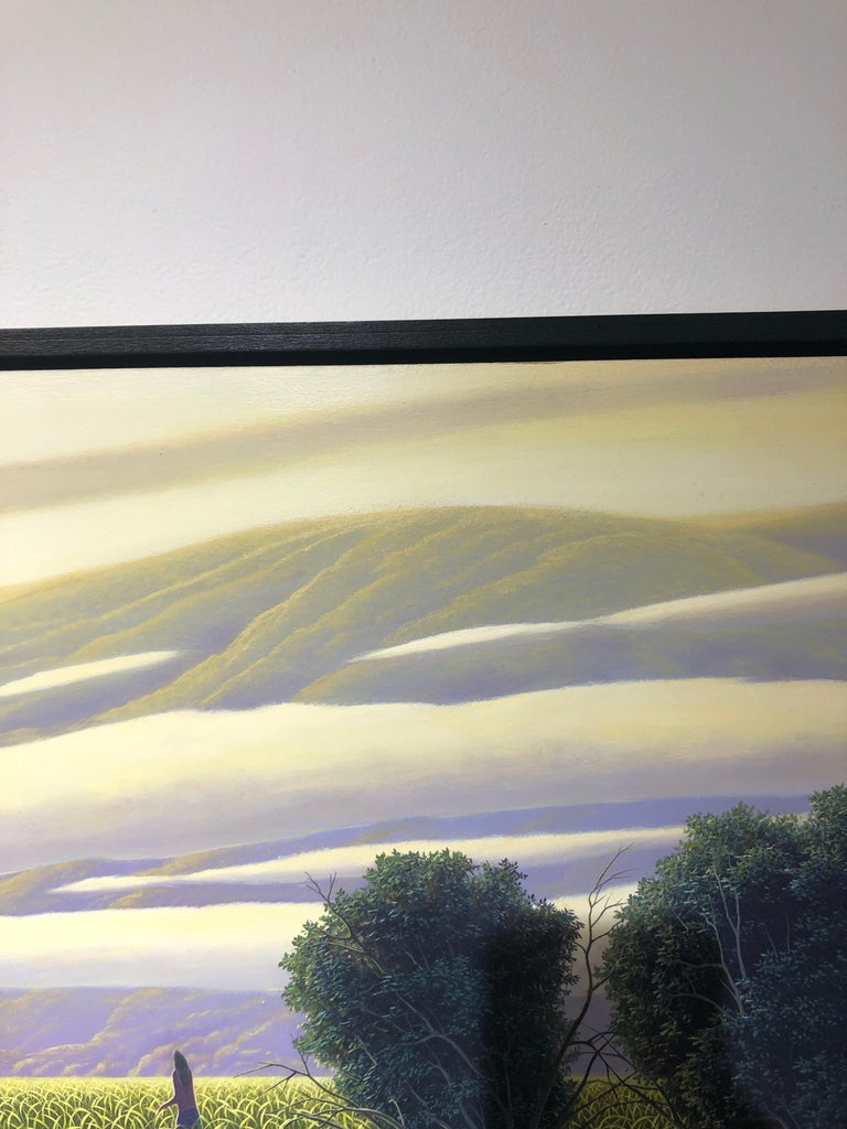 The Perfect Evening - Original Oil Painting of Figure in a Surreal Landscape For Sale 7