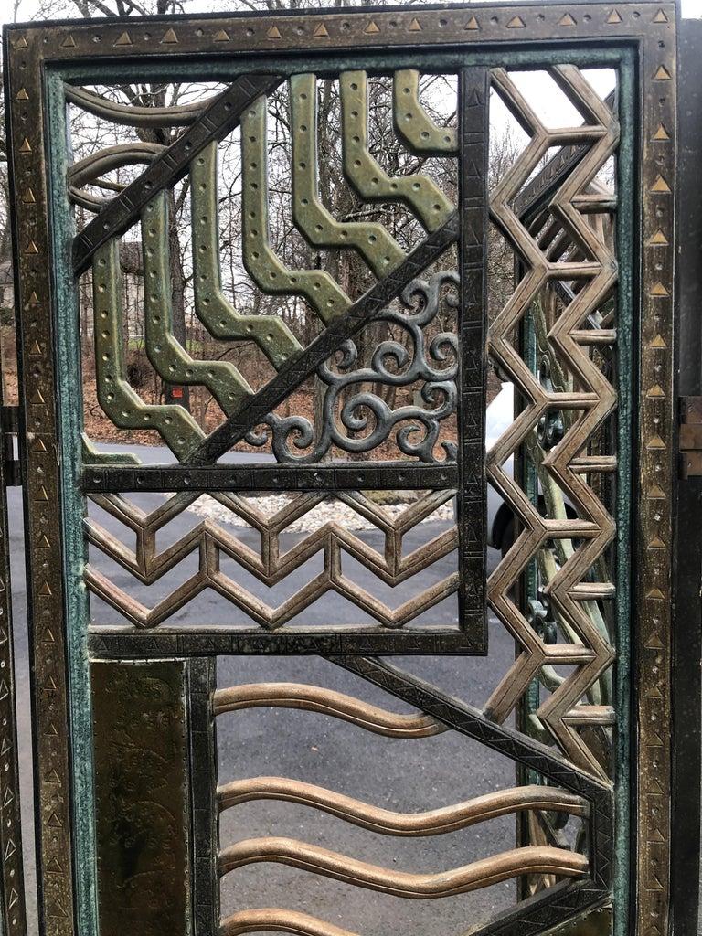 Rene Paul Chambellan Style Art Deco Screen Mixed Metal For Sale 10