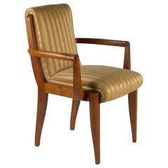Rene Prou Armchairs in Walnut, 2 Pairs