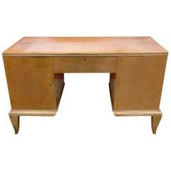 René Prou, Art Deco Desk in Lacquered Wood, circa 1940-1950