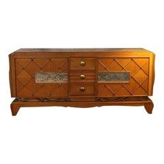 René Prou Sublime Solid Oak Sideboard, 1940