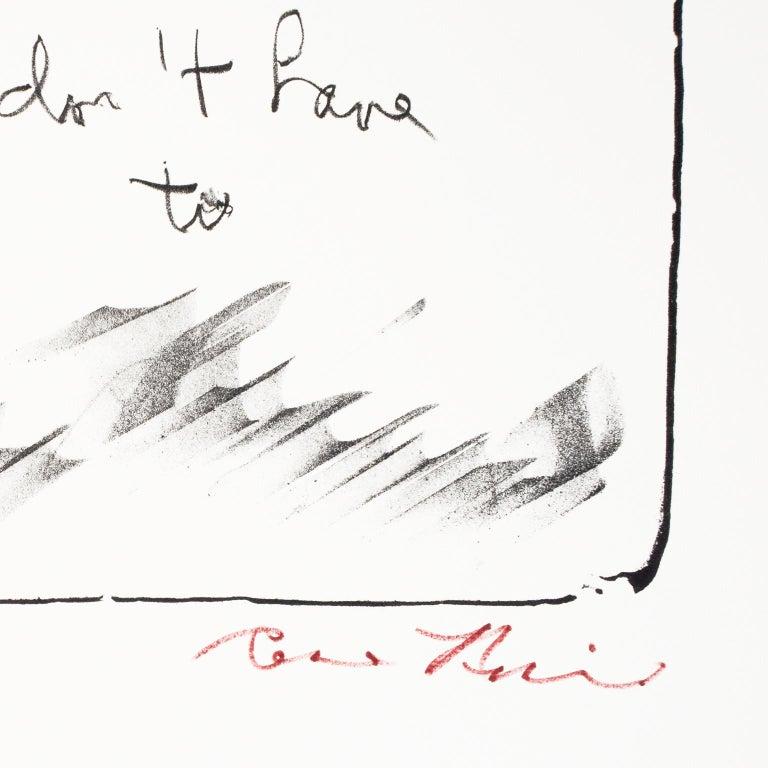 David Shapiro - White Interior Print by Rene Ricard
