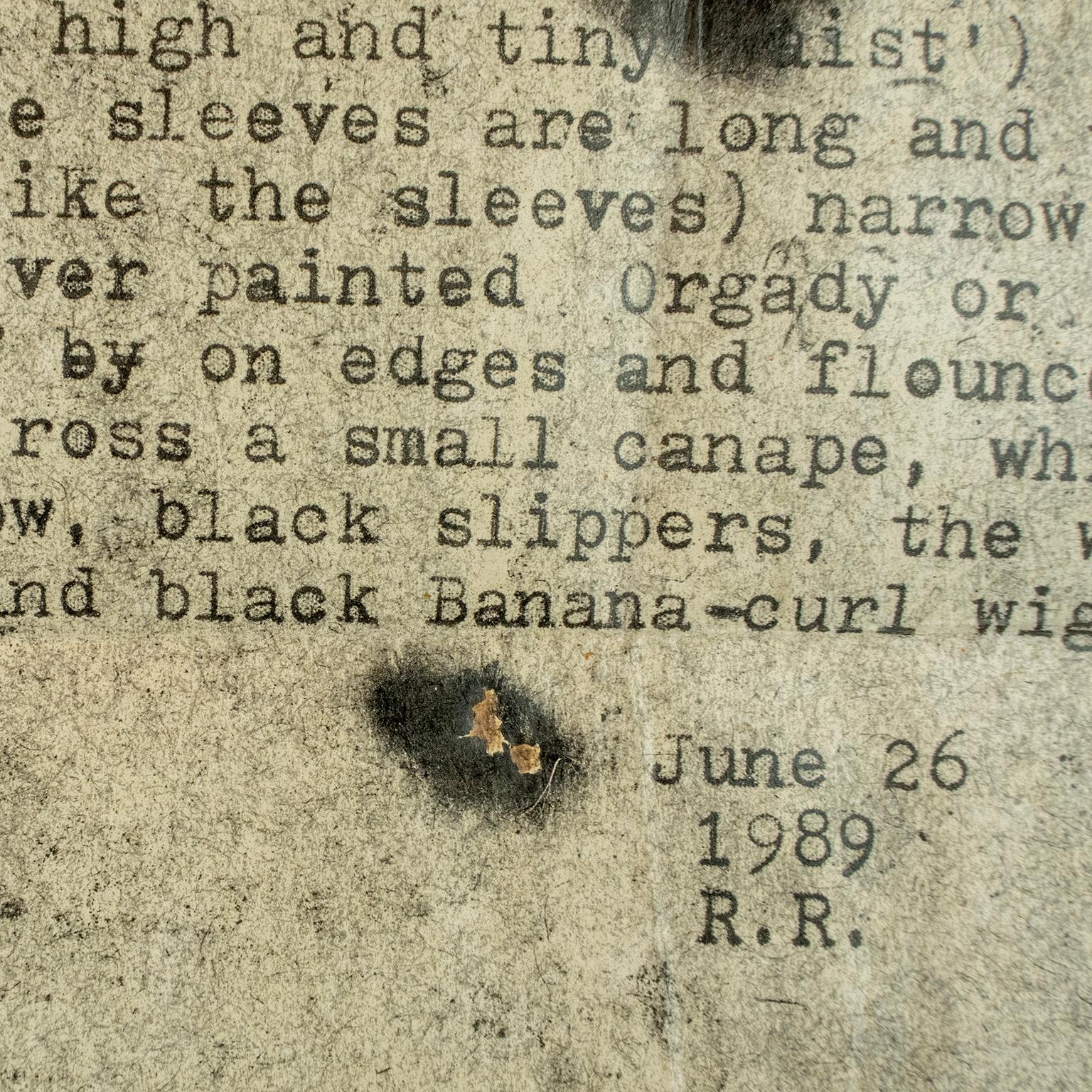 Monet Portrait of Jeanne Duval: Ricard drawing vintage typewriter love poetry