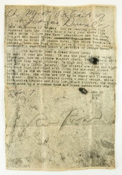 Monet Portrait of Jeanne Duval: drawing with vintage typewriter love poetry