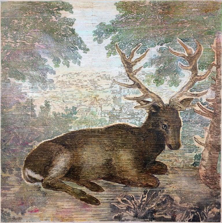 Durer's Deer - Mixed Media Art by Renee Bott