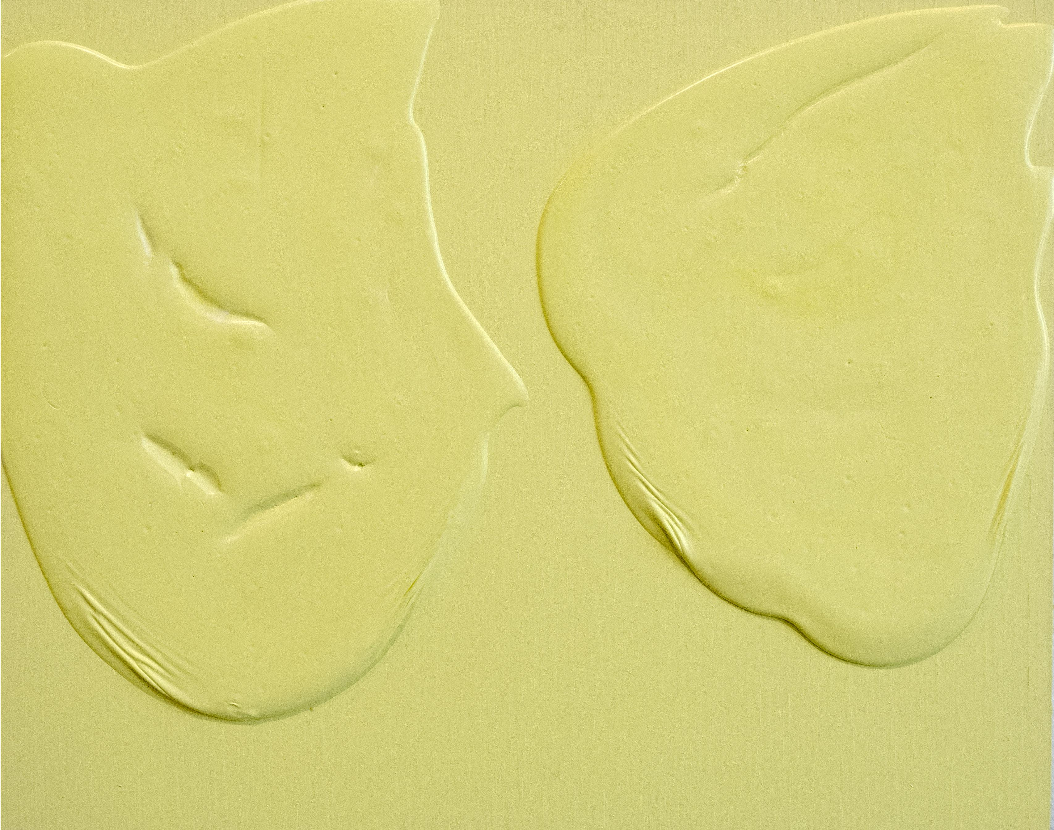 Meditation FB yellow cake - abstract textural yellow painting on wood panel