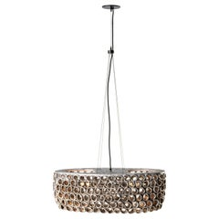 RENG, Coral, Hand Formed Ceramic, Perforated Oceanic Inspired Chandelier