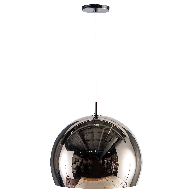 RENG, Hansha, Forged Steel, Spun Steel Vase with Chrome Overlay