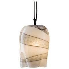 RENG, Kama, Decorated Glass Pendant Light with Artisanal Cast