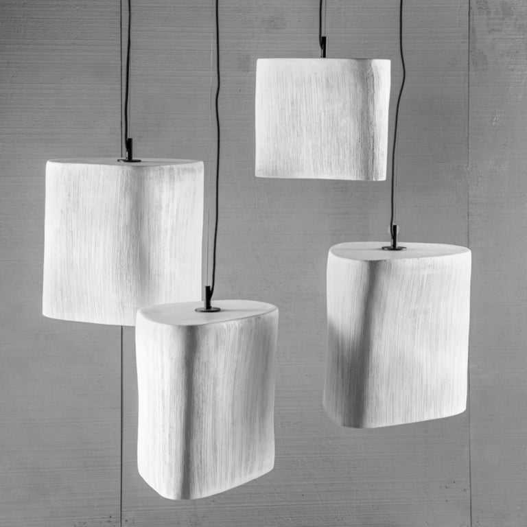 Reng, Kaze, hand formed ceramic pendant light.
