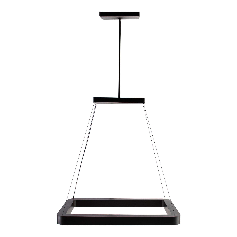 RENG, Miro, Forged Steel, Modernist Suspension Rectangular Led Light