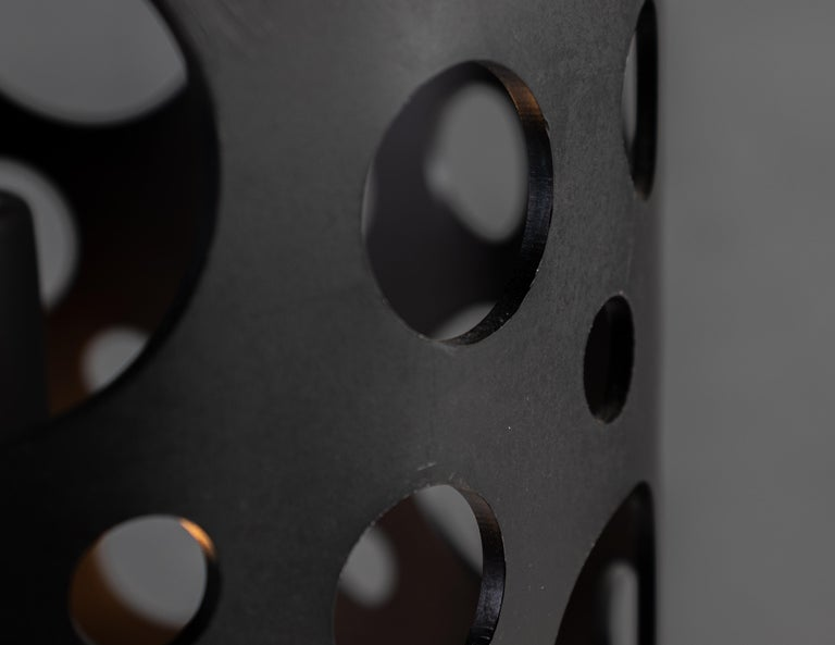 Italian RENG, Pierce I, Forged Steel, Perforated Circular Cut Outs on Cylinder Body For Sale