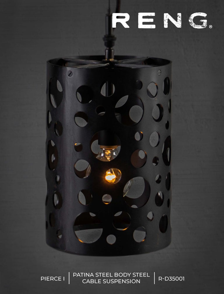 RENG, Pierce I, Forged Steel, Perforated Circular Cut Outs on Cylinder Body For Sale 1