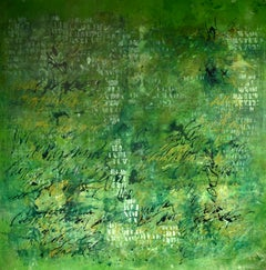"""Disfluencias 2"", Abstract, Contemporary, Green"
