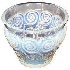 'Rennes' an Art Deco Opalescent Glass Vase by René Lalique