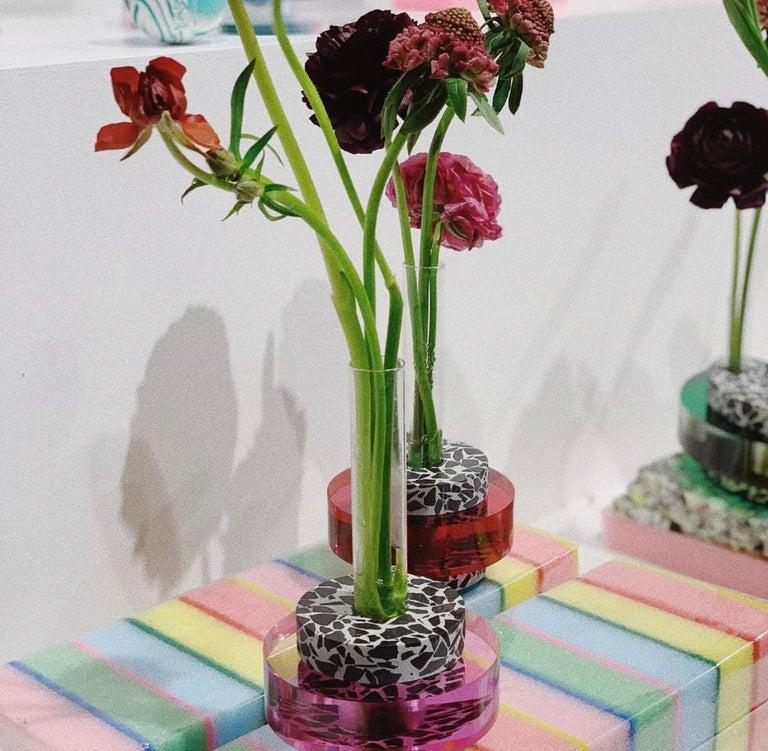 Post-Modern Rennie Bud Vessel Vase in Cherry Blossom For Sale