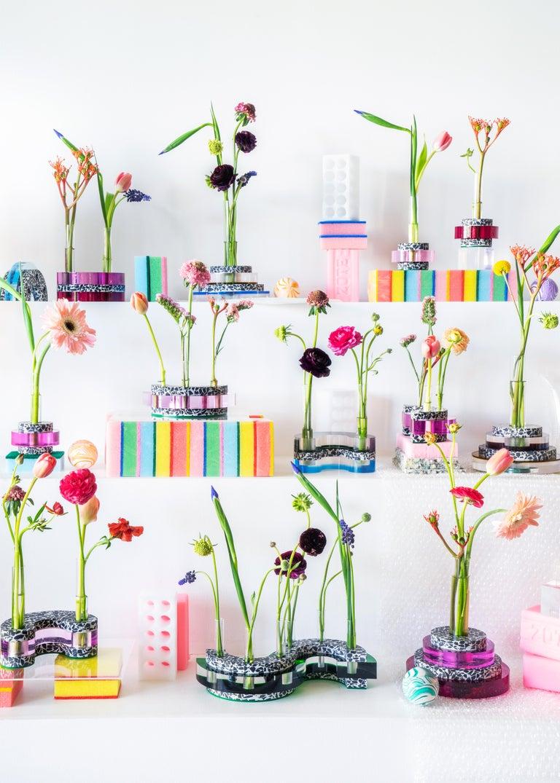 Rennie Bud Vessel Vase in Cherry Blossom In New Condition For Sale In Miami, FL