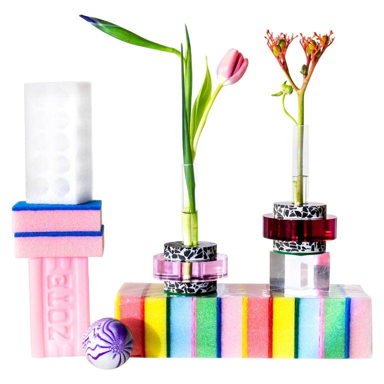 Rennie Bud Vessel Vase in Cherry Blossom