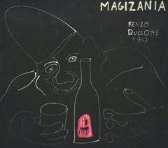 Clown - Original Lithograph by Renzo Bussotti - 1963