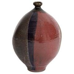 Renzo Faggioli Multicolored Ceramic Vessel