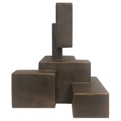 """""""Renzo"""" Mixed-Media Table Top Sculpture in Bronze Finish by Dan Schneiger"""