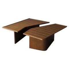 Renzo Rutili, Rare Coffee Table, Bleached Mahogany, Johnson Furniture, 1950s
