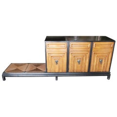 Renzo Rutili Storage Cabinet with Bench for Johnson Furniture