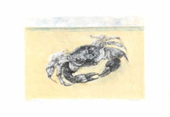 Crab - Original Lithograph by Renzo Vespignani - 1979
