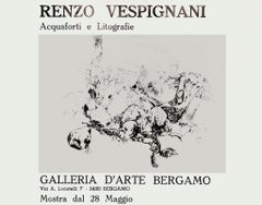 Renzo Vespignani - Vintage Exhibition Poster - 1971