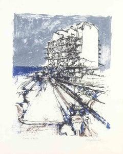 Untitled - Original Lithograph by R. Vespignani - 1962