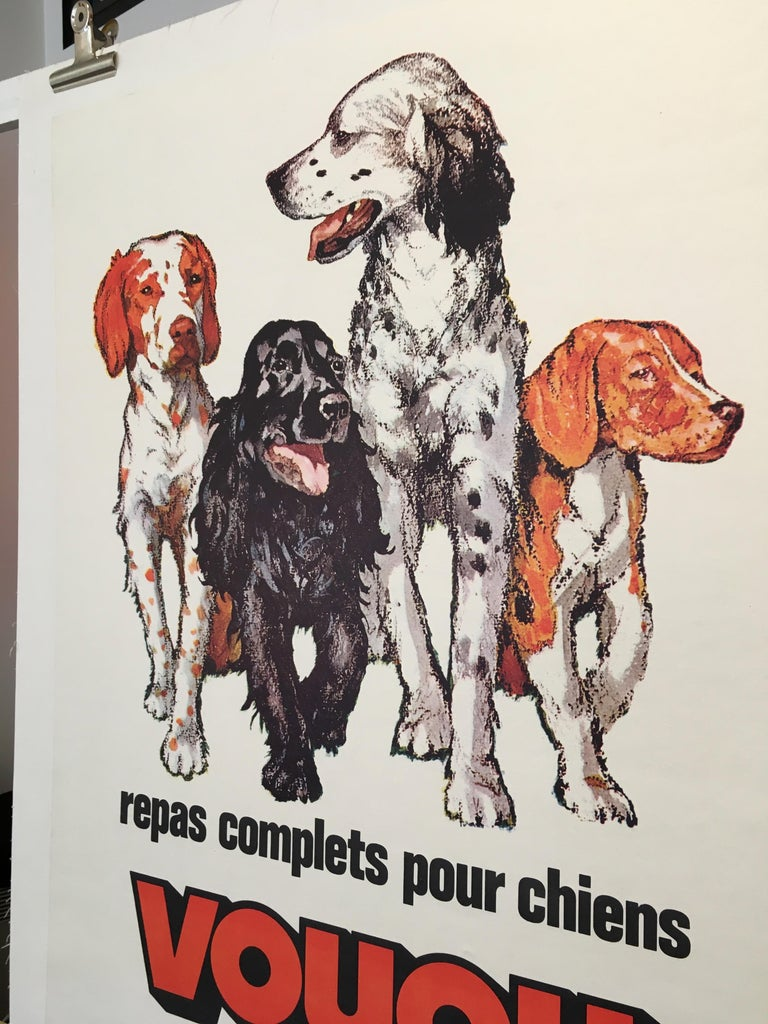 Repas Complet Pour Chiens Voyou Original Vintage French Dog Poster, 1975 In Good Condition For Sale In Melbourne, Victoria