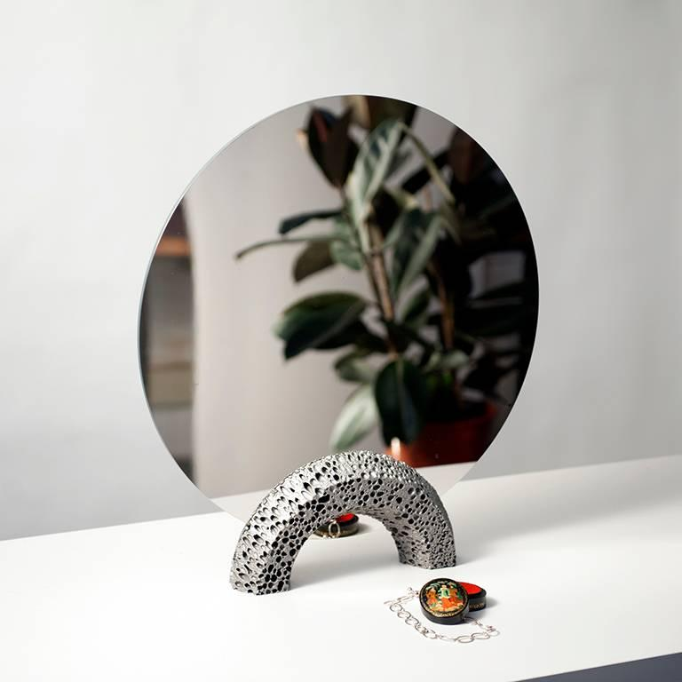 English Contemporary Replica 'Lost Foam' Aluminium Dresser Mirror by Studio Furthermore For Sale