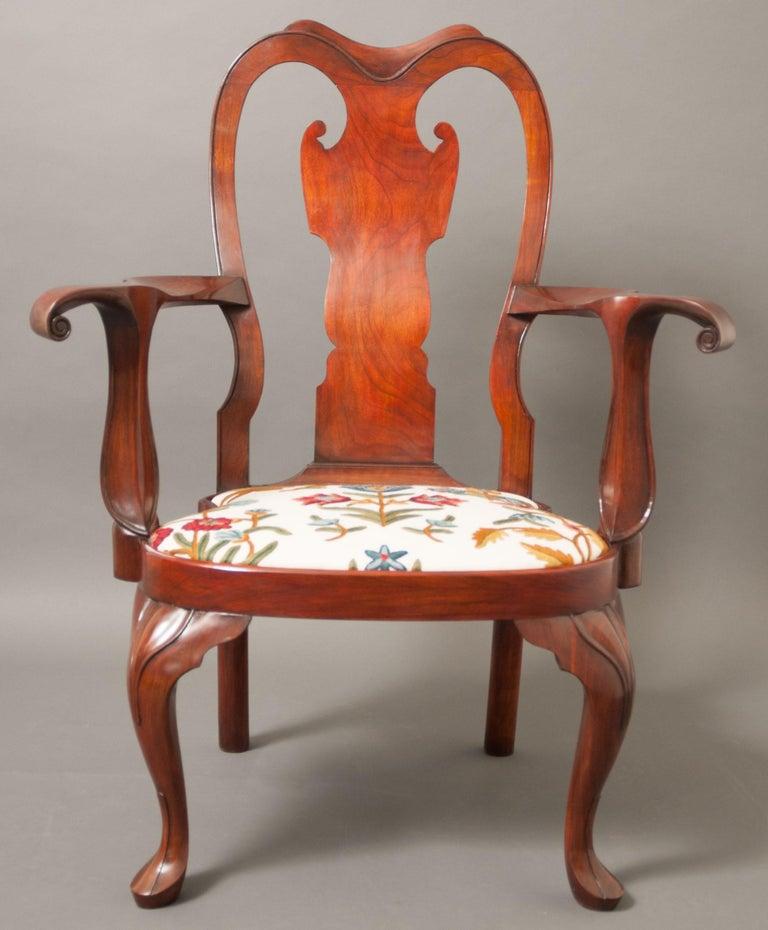 Baroque Replica of a Philadelphia Colonial Period 'Queen Anne' Balloon Seat Armchair For Sale