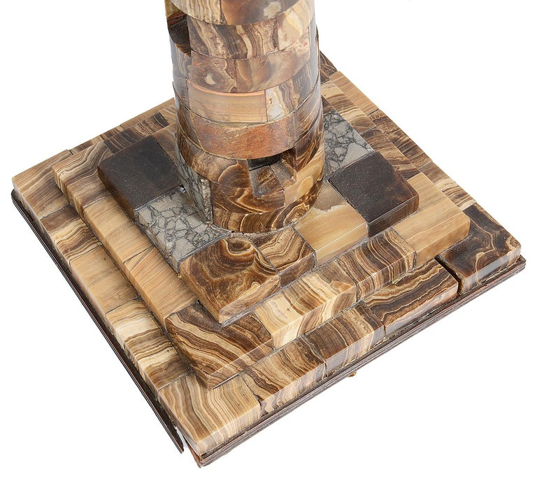 Marble Replica of Europa Light House, Gibraltar, 19th Century For Sale