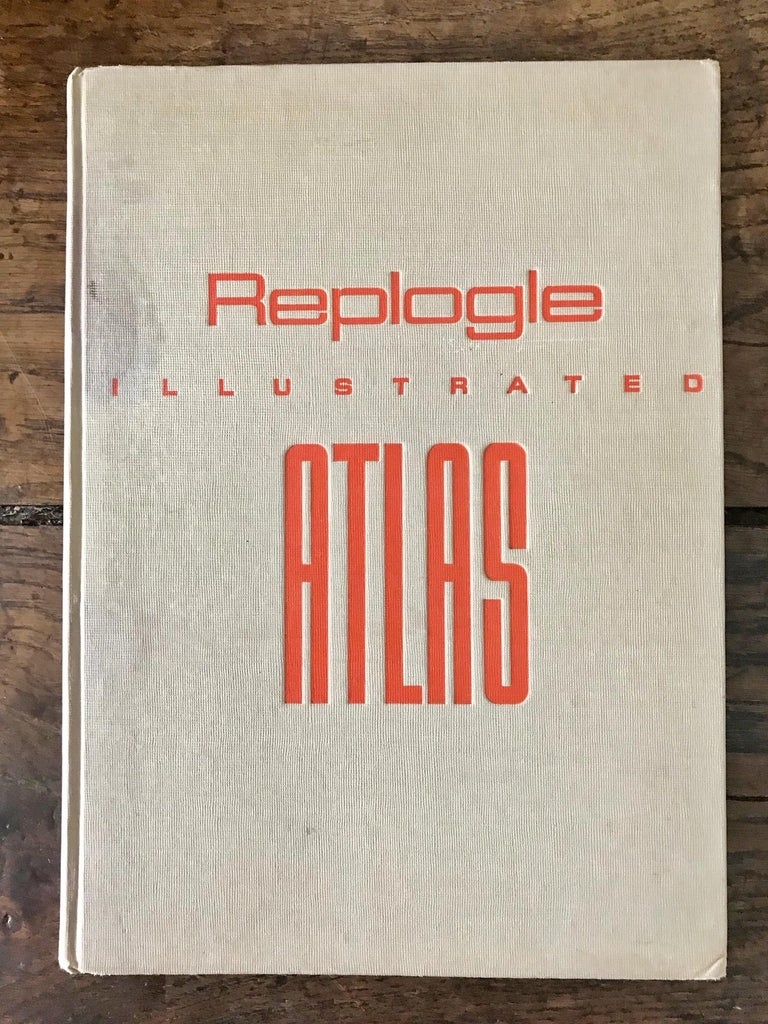 Replogle Library Globe Plus Replogle Illustrated Atlas, Late 1930s For Sale 6